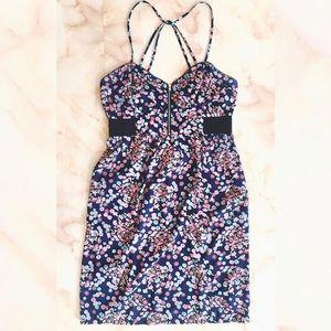 ▪️ billabong strappy zip front mini dress Jrs L